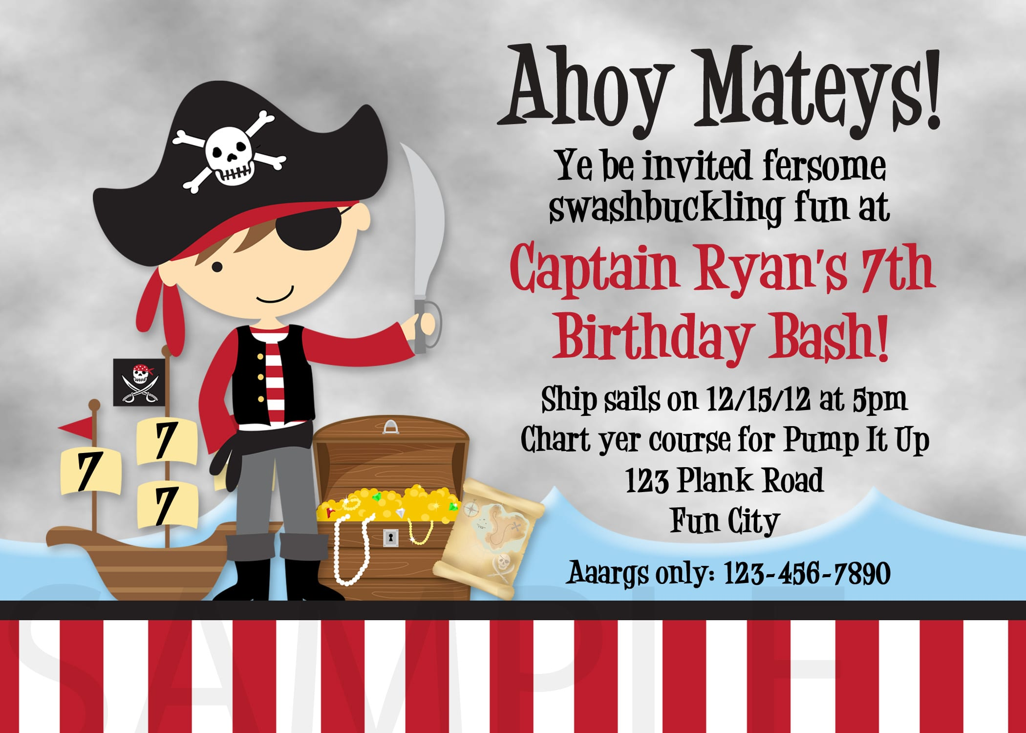 Pirate Birthday Invitations Lovely Pirate Birthday Invitations