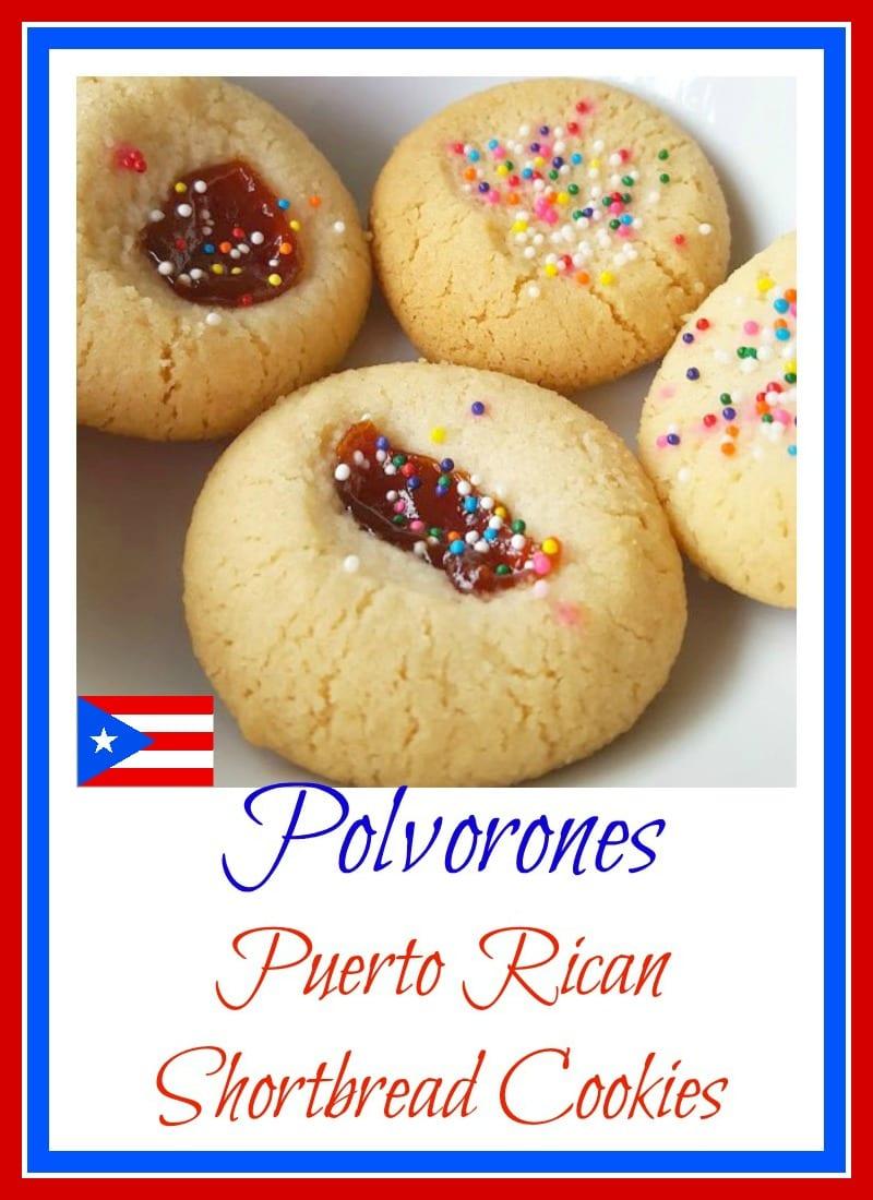 Polvorones Con Guayaba (puerto Rican Shortbread Cookies With Guava