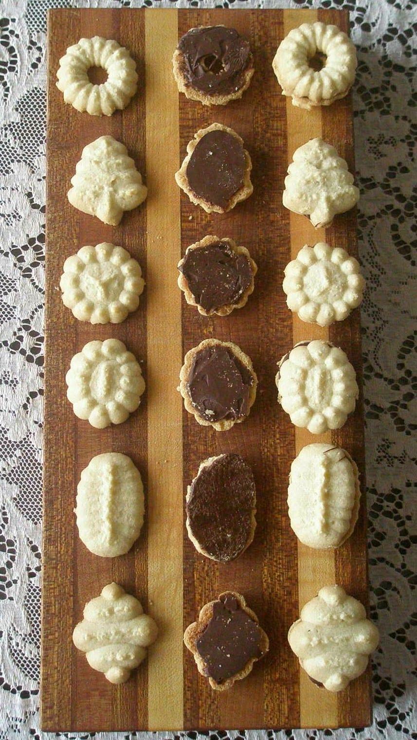Pressed Butter (spritz) Cookies, Gluten