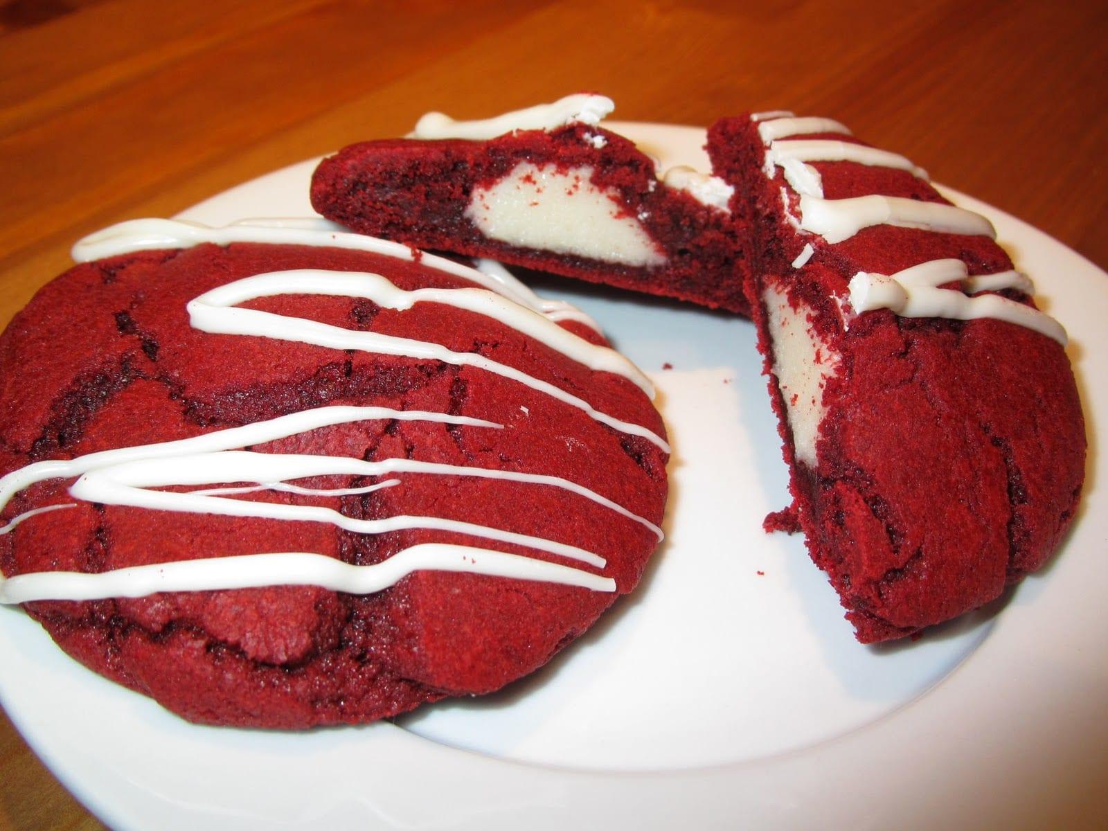 Red Velvet Cheesecake Cookies Recipe — Dishmaps