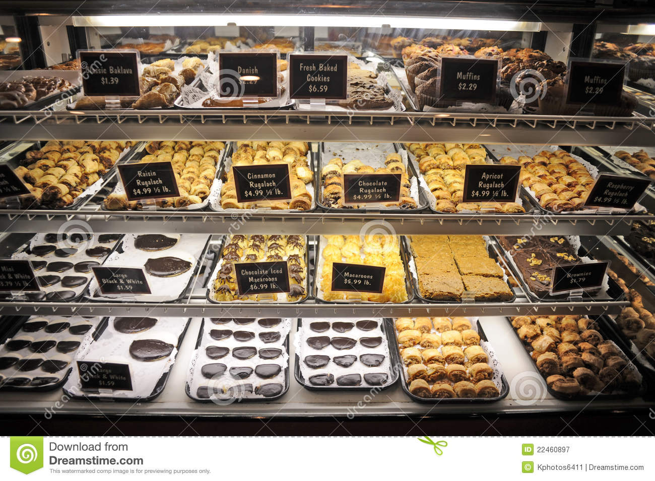 Refrigerated Cookie Display Stock Image