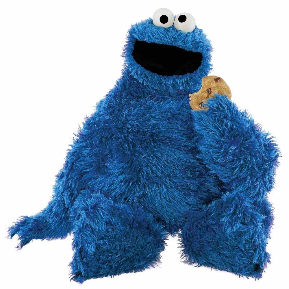 Roommates 5 In  X 19 In  Sesame Street Cookie Monster Peel And