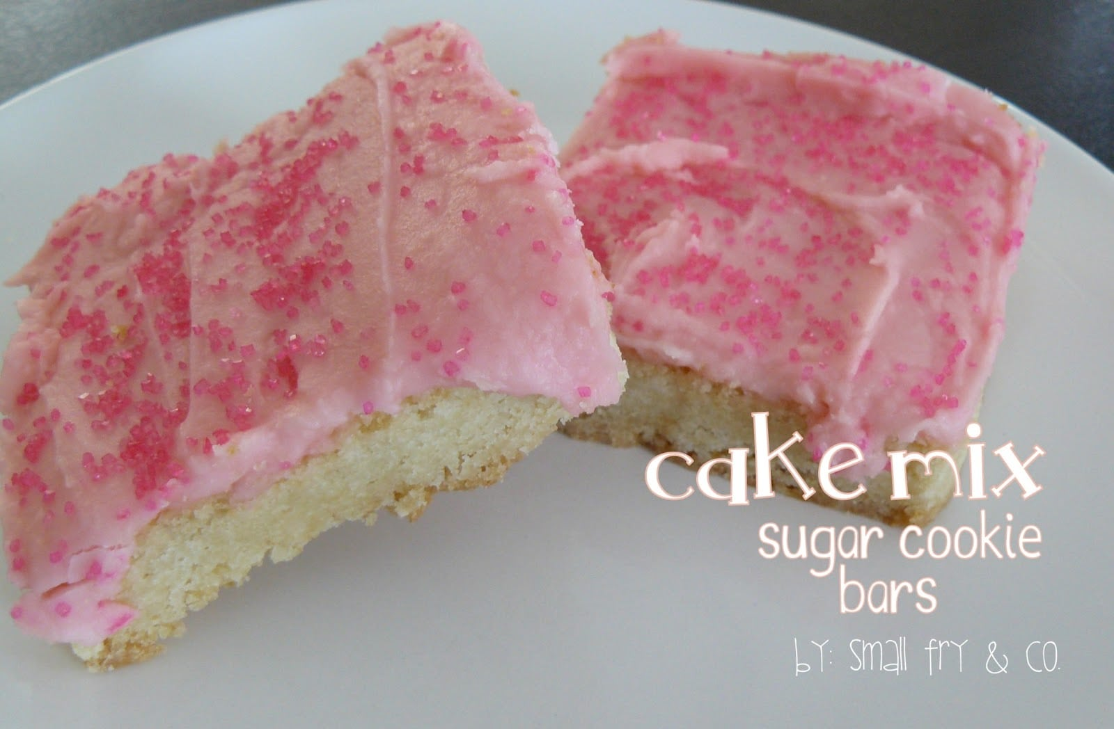 Small Fry & Co    Cake Mix Sugar Cookie Bars