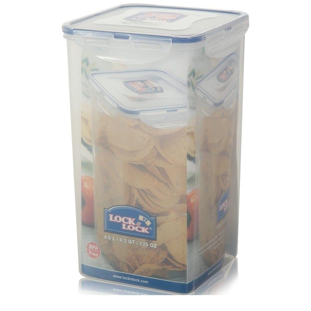 Smart Idea Plastic Cookie Jar Buy Lock 4 Litre Tall Storage Box