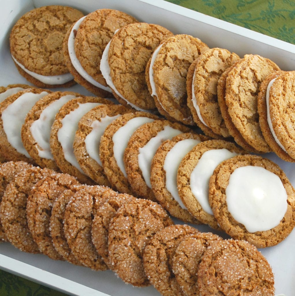 Soft Gingersnap Cookies With Browned Butter Drizzle Or Marshmallow