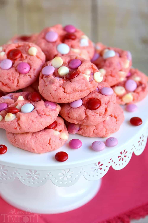 Strawberry And White Chocolate Cake Mix Cookies