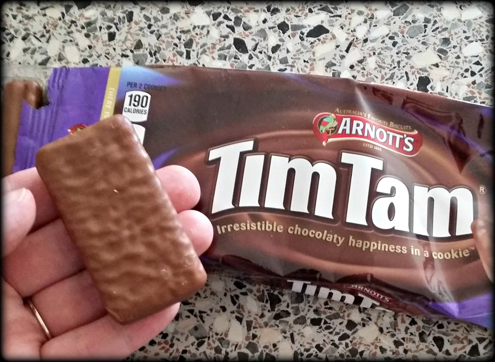 Temporary Waffle  Enjoying The Delicious Arnott's Tim Tam Cookies