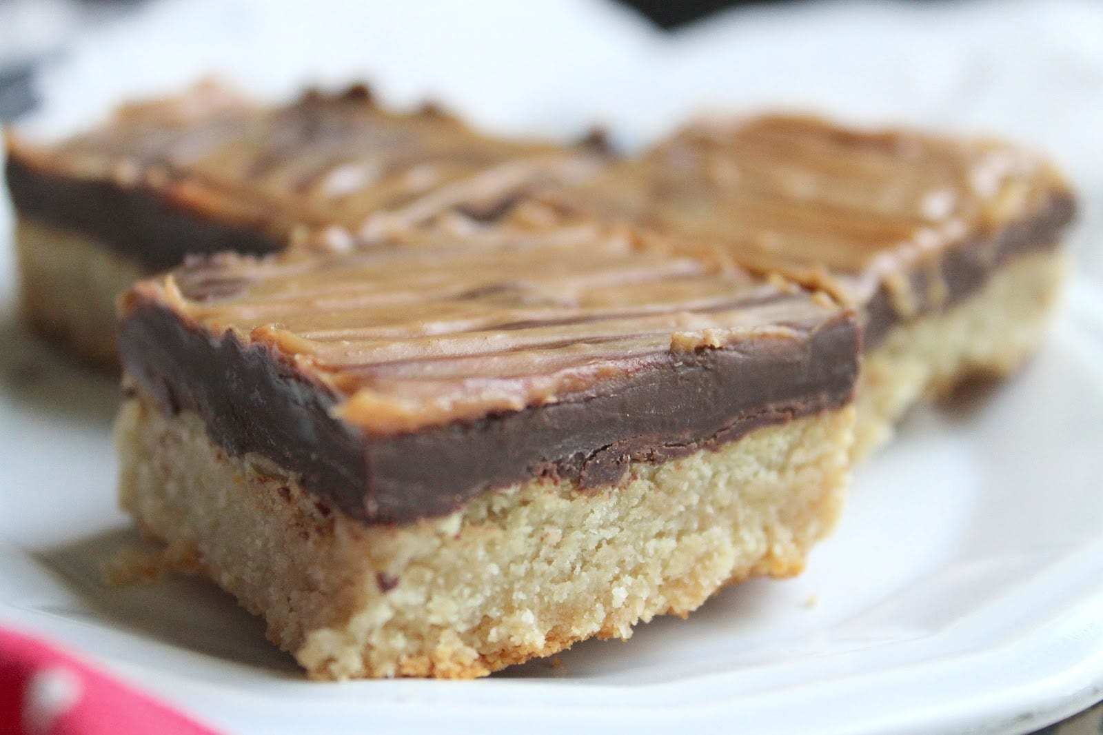 The Almond Flower  Chocolate Peanut Butter Cookie Bars