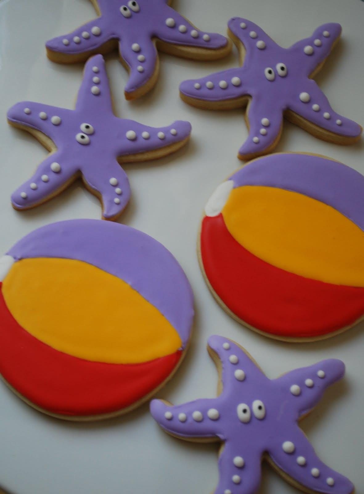 The Baking Sheet  Starfish & Beach Ball Cookies!