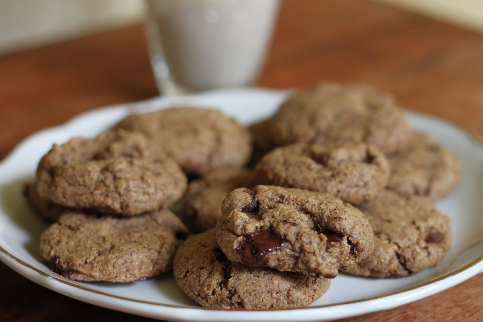 The Best Vegan Cookies  Chocolate Almond Butter Cookies