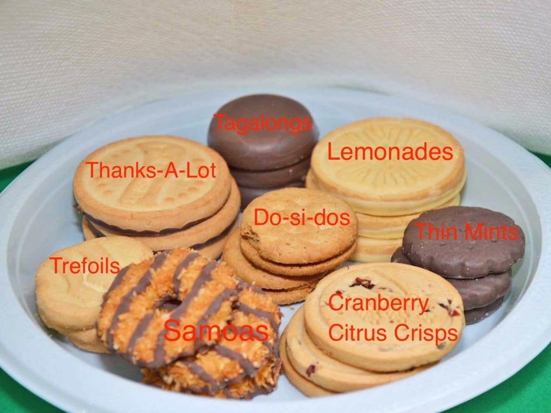 The Most Popular Girl Scout Cookies