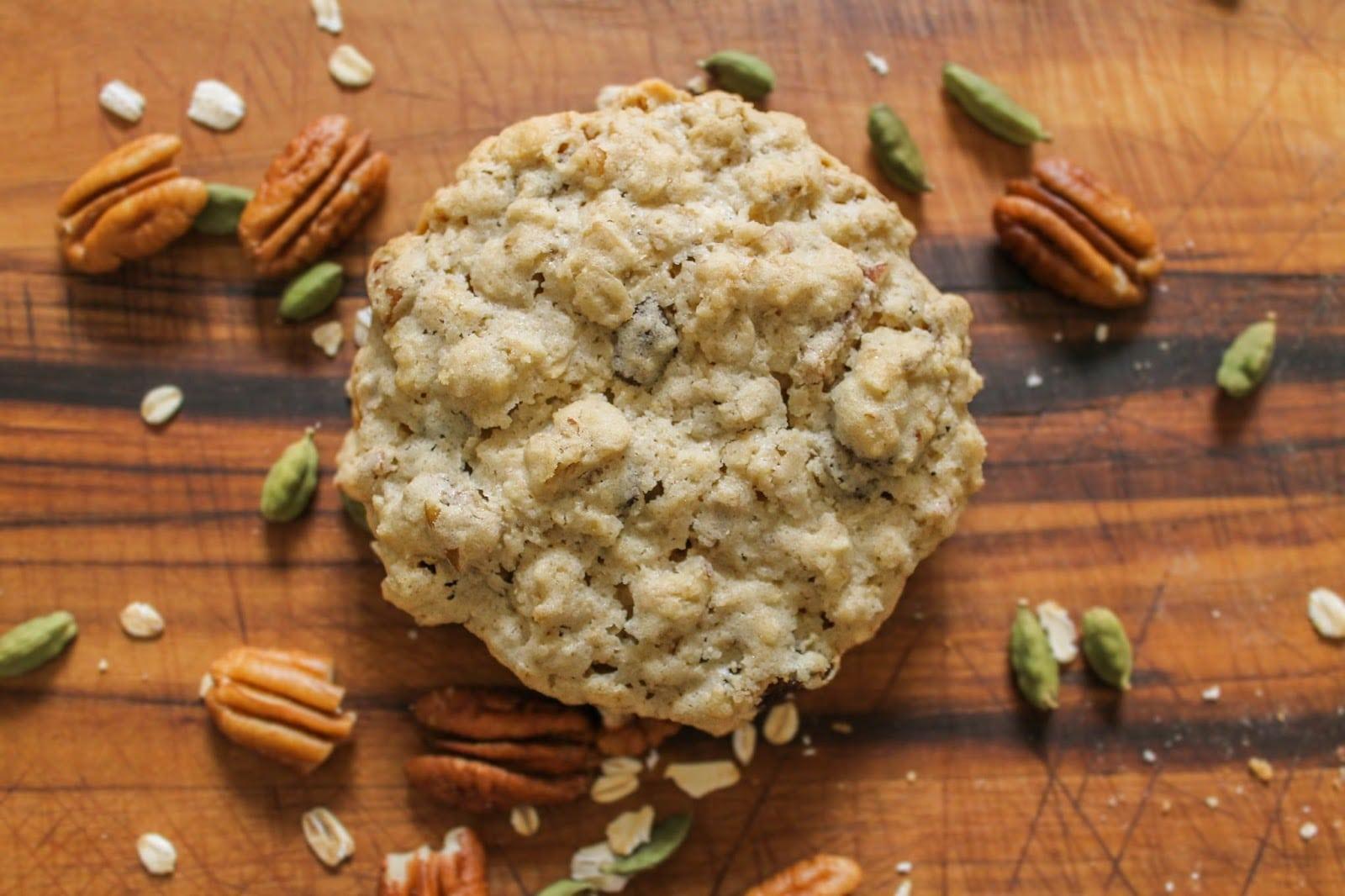 The Quixotic Table  Oatmeal Raisin Pecan Cookies