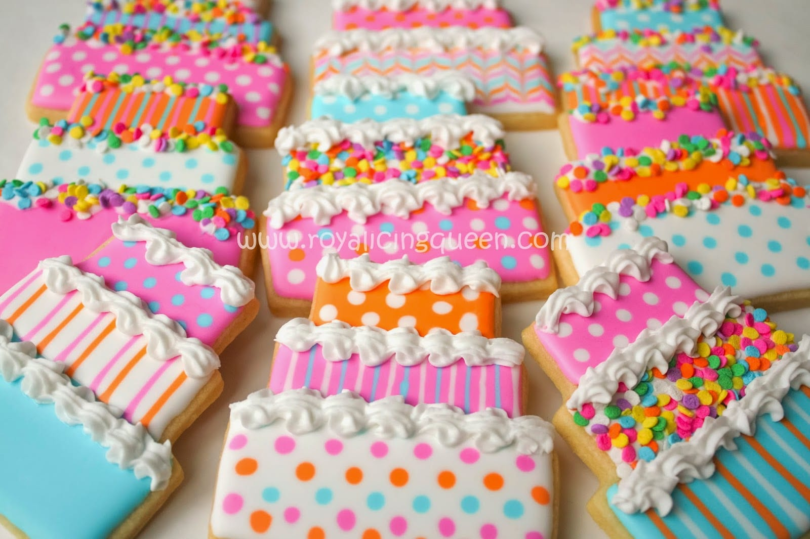 The Royal Icing Queen  Birthday Cake Cookies