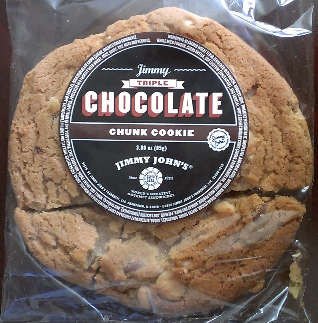 Val's Galorious Galaxy  Jimmy John's Triple Chocolate Chunk Cookie