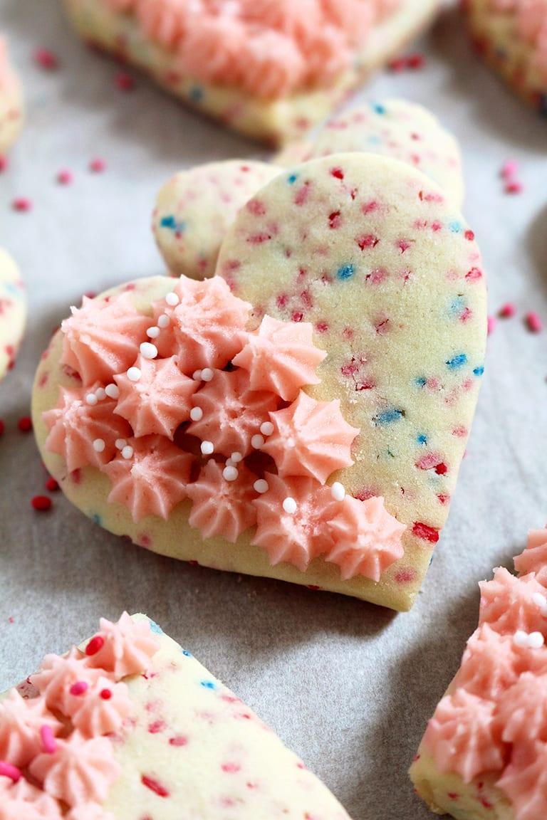 Valentine's Sugar Cookies With Vanilla Buttercream Frosting