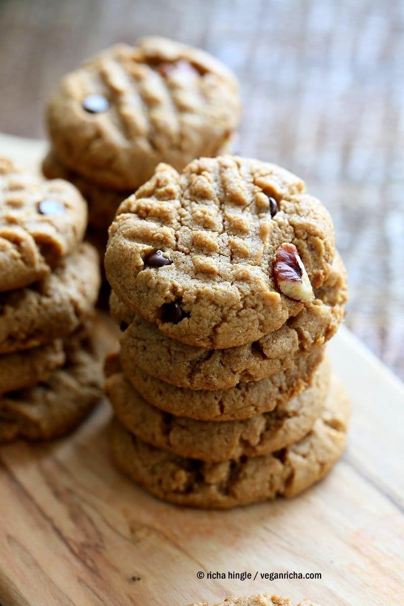 Vegan Peanut Butter Cookies With Pecans