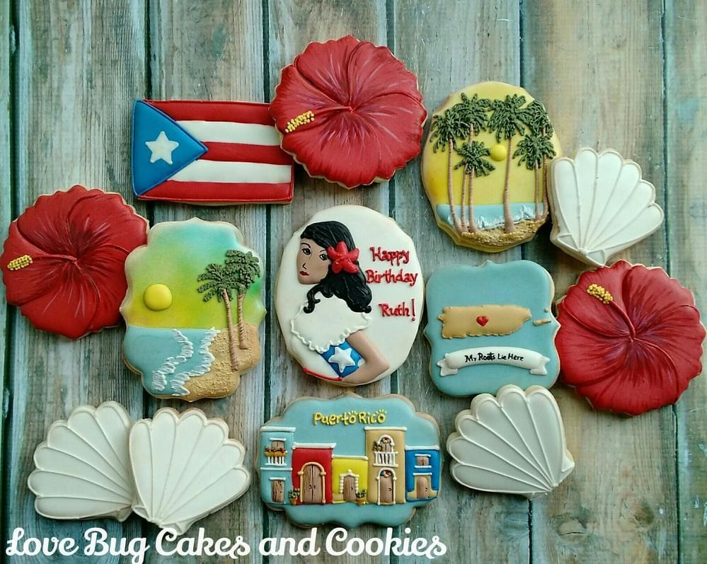 Vintage Puerto Rico By Love Bug Cookies