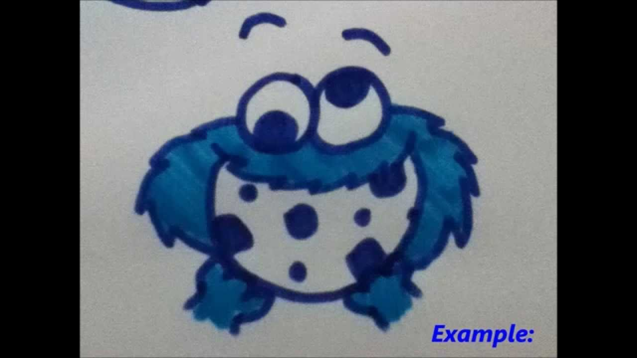 Ways To Draw Cookie Monster!