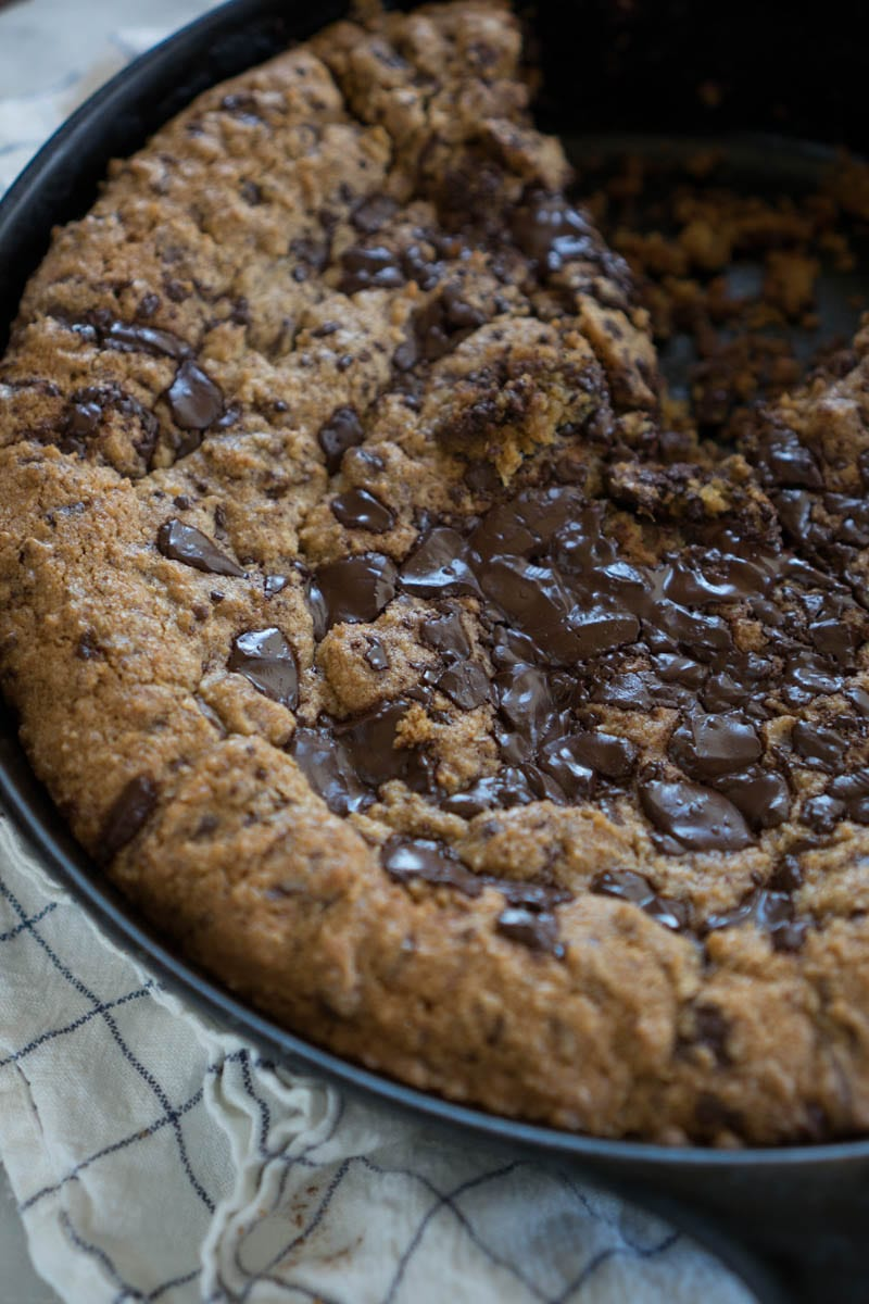 Whole Wheat Chocolate Chip Skillet Cookies Recipe