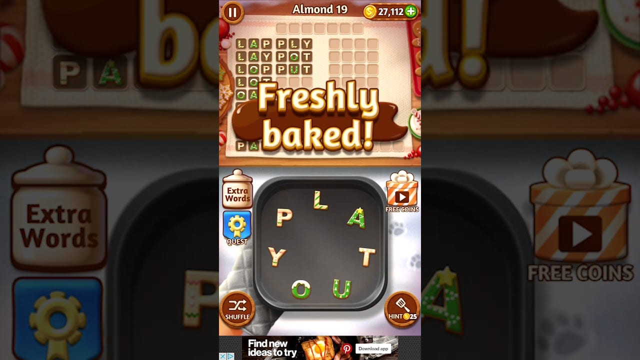 Word Cookies Almond 19