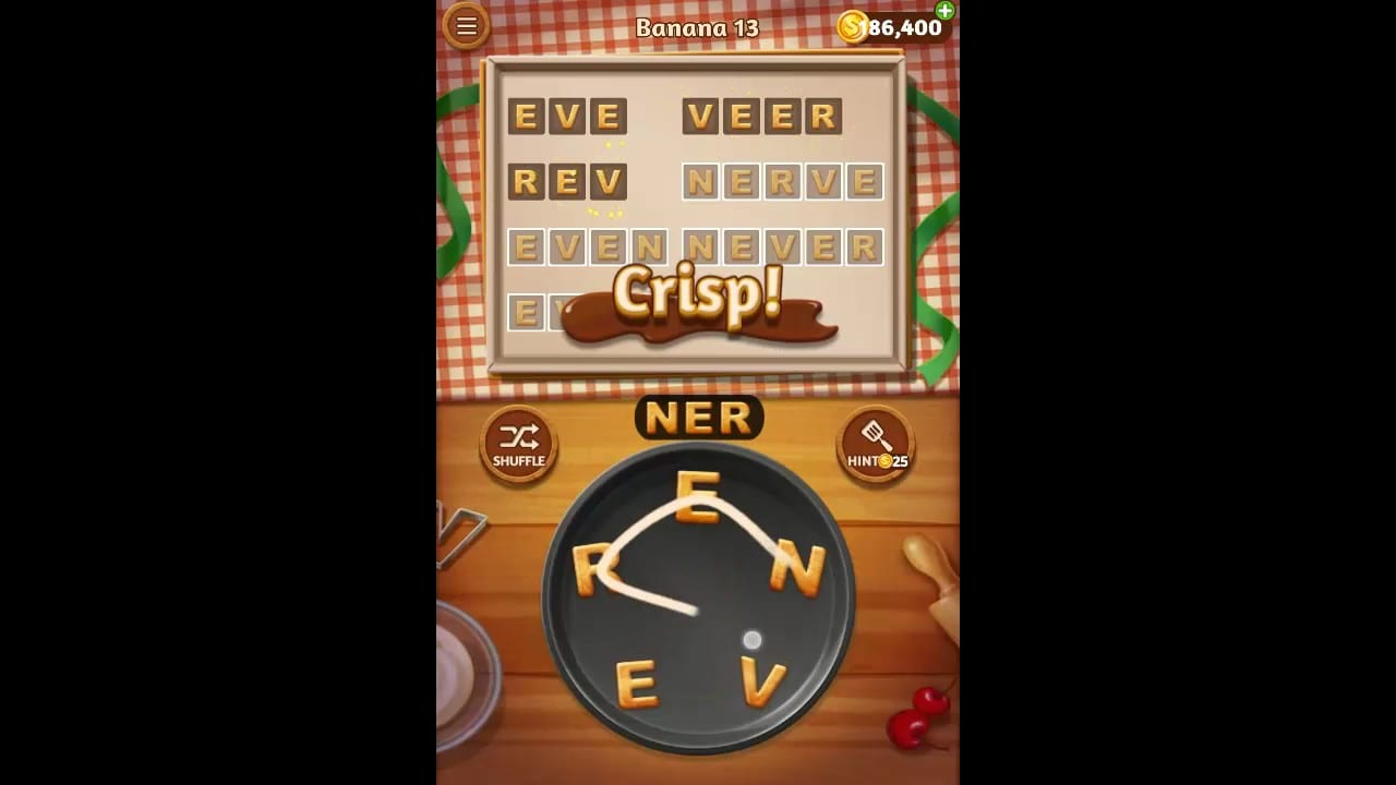 Word Cookies Banana Pack Level 13 Answers
