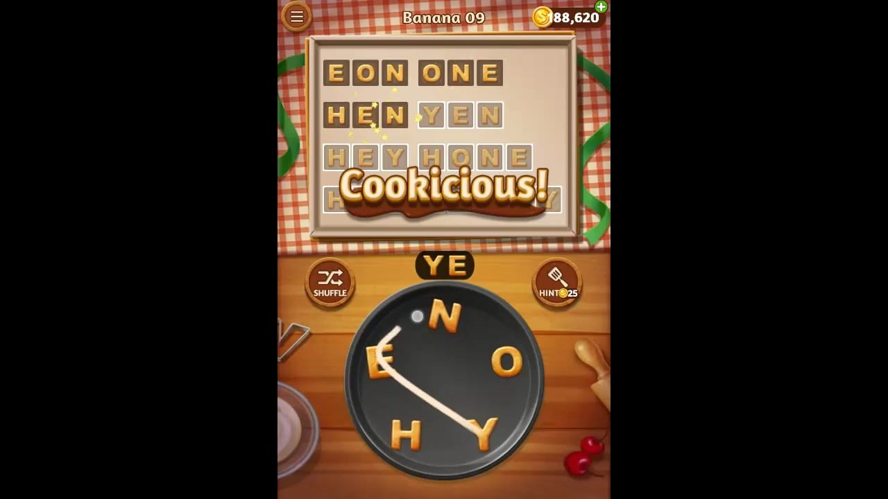 Word Cookies Banana Pack Level 9 Answers