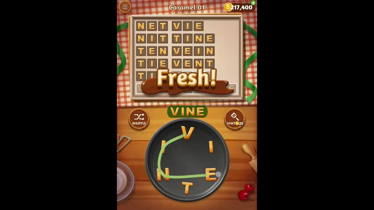 Word Cookies Caramel Pack Level 1 Answers