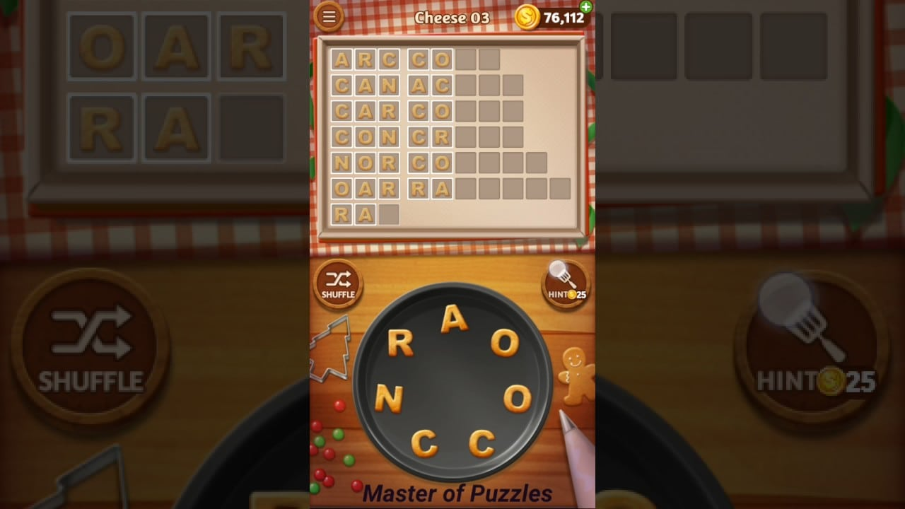 Word Cookies Cheese Level 3 Executive Chef Solved