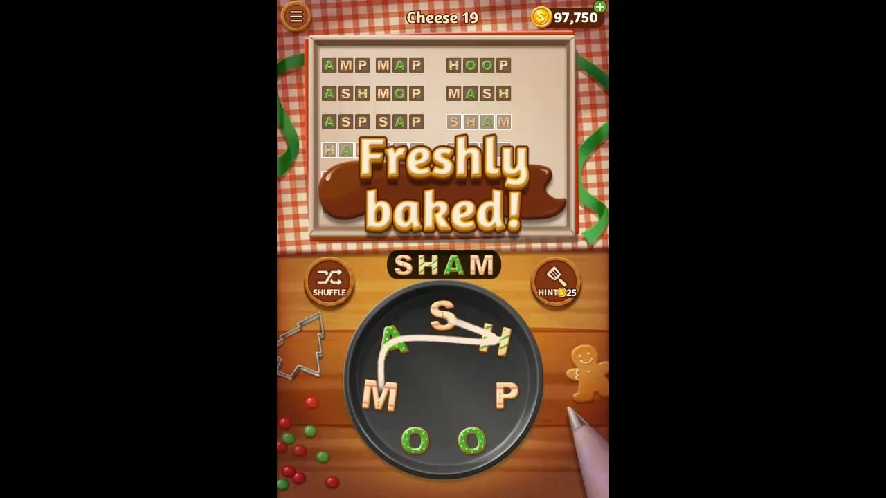 Word Cookies Cheese Pack Level 19 Answers