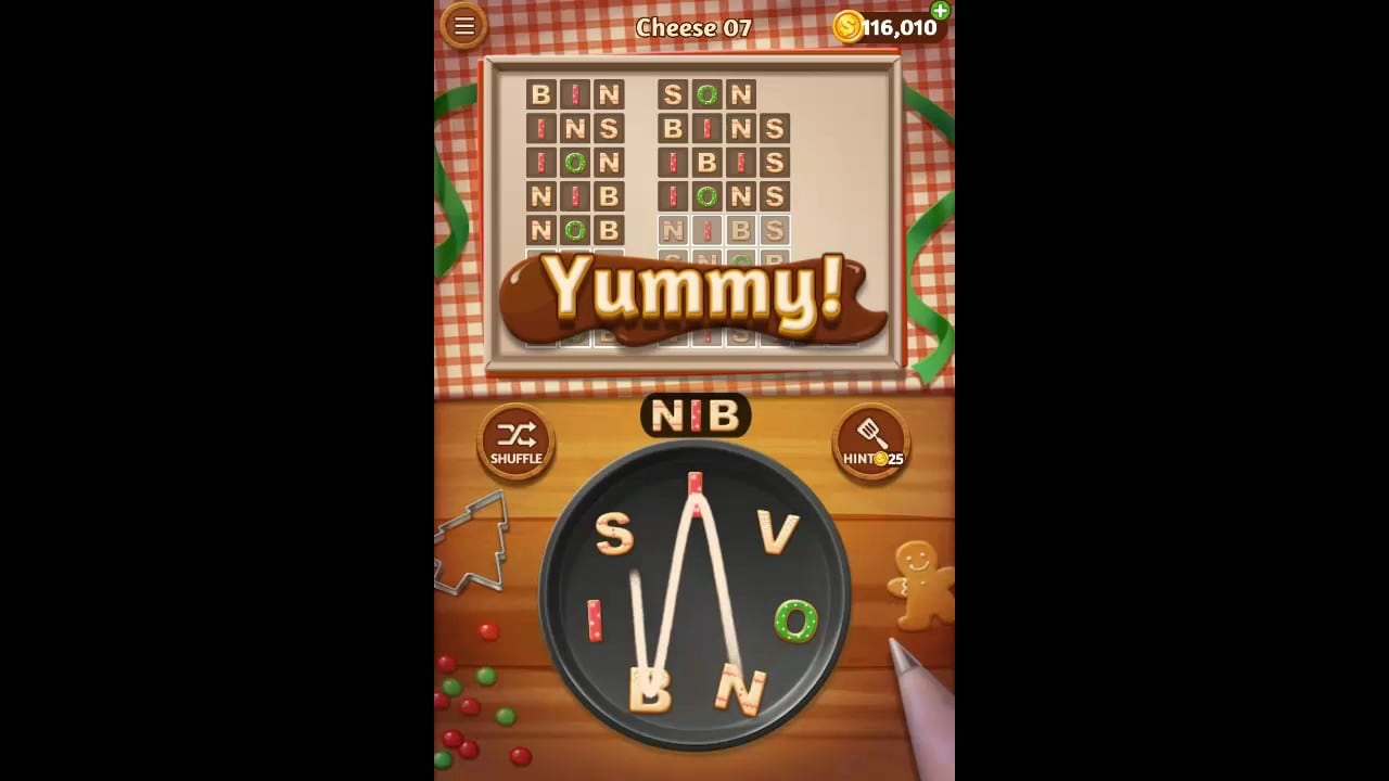 Word Cookies Cheese Pack Level 7 Answers
