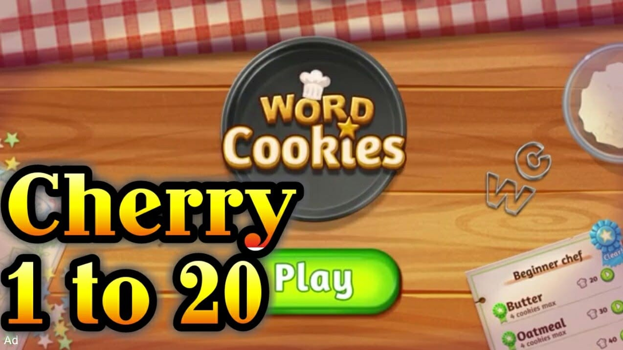 Word Cookies Cherry Level 1 To 20 Talented Chef Complete Solved