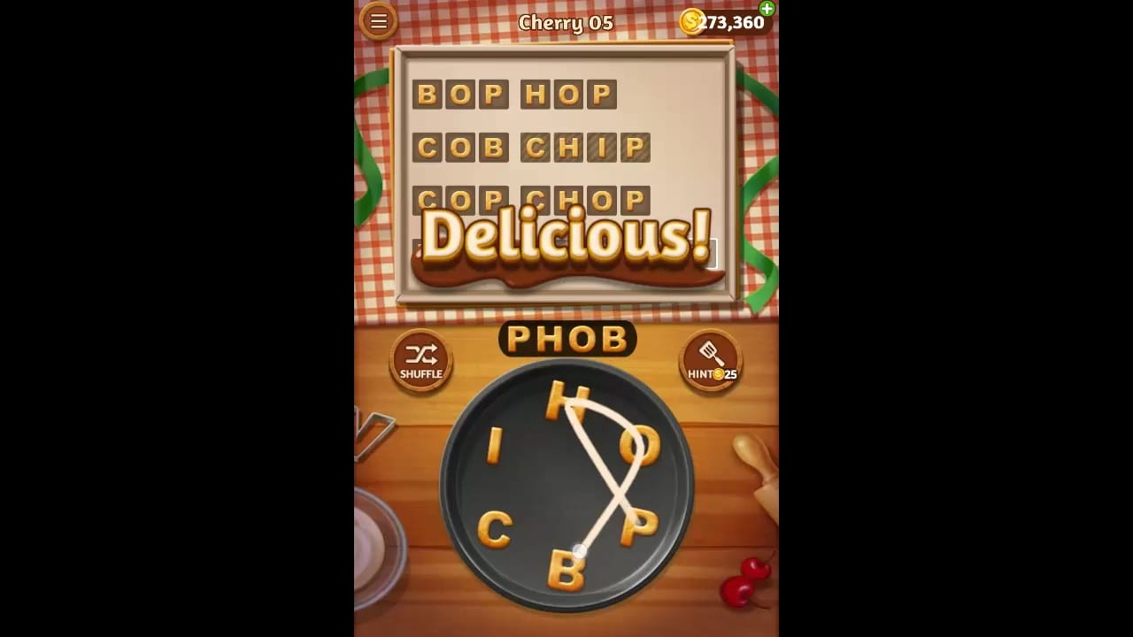 Word Cookies Cherry Pack Level 5 Answers