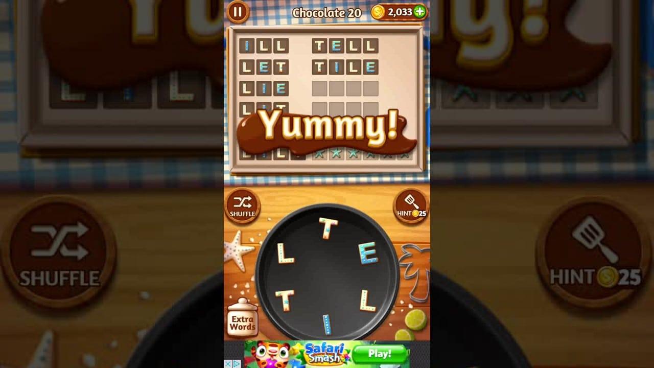 Word Cookies Chocolate 20