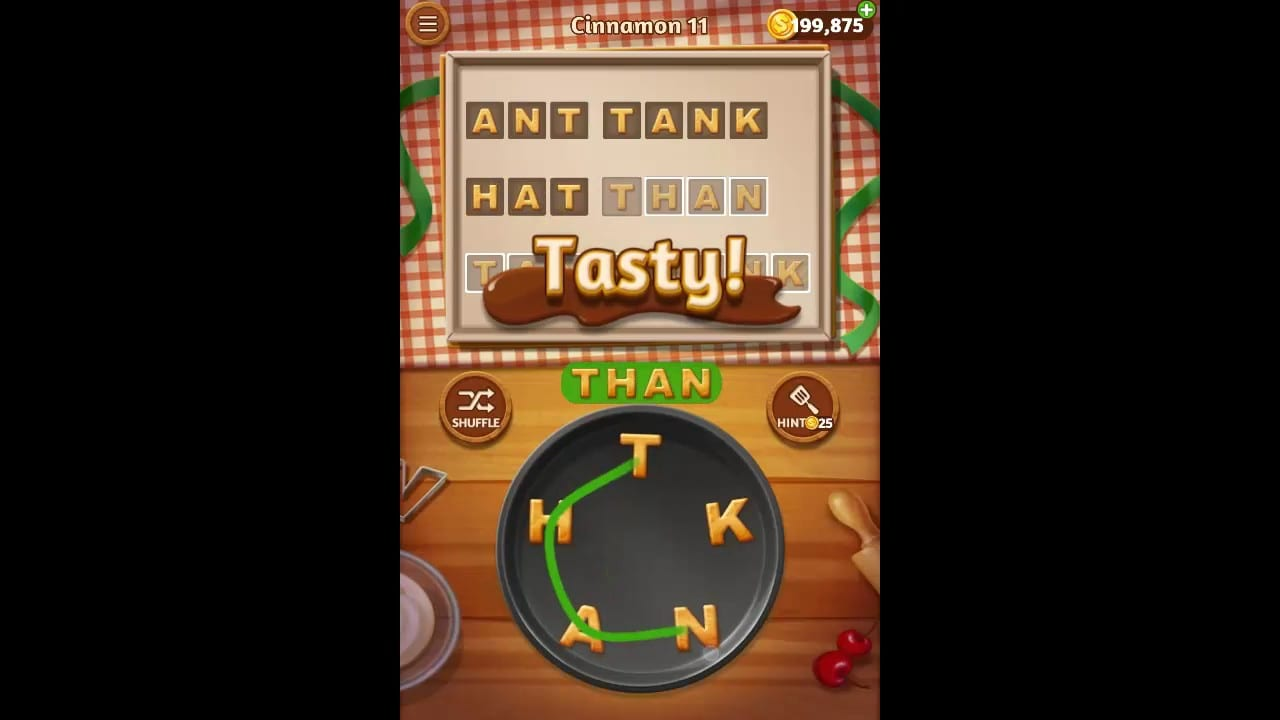 Word Cookies Cinnamon Pack Level 11 Answers