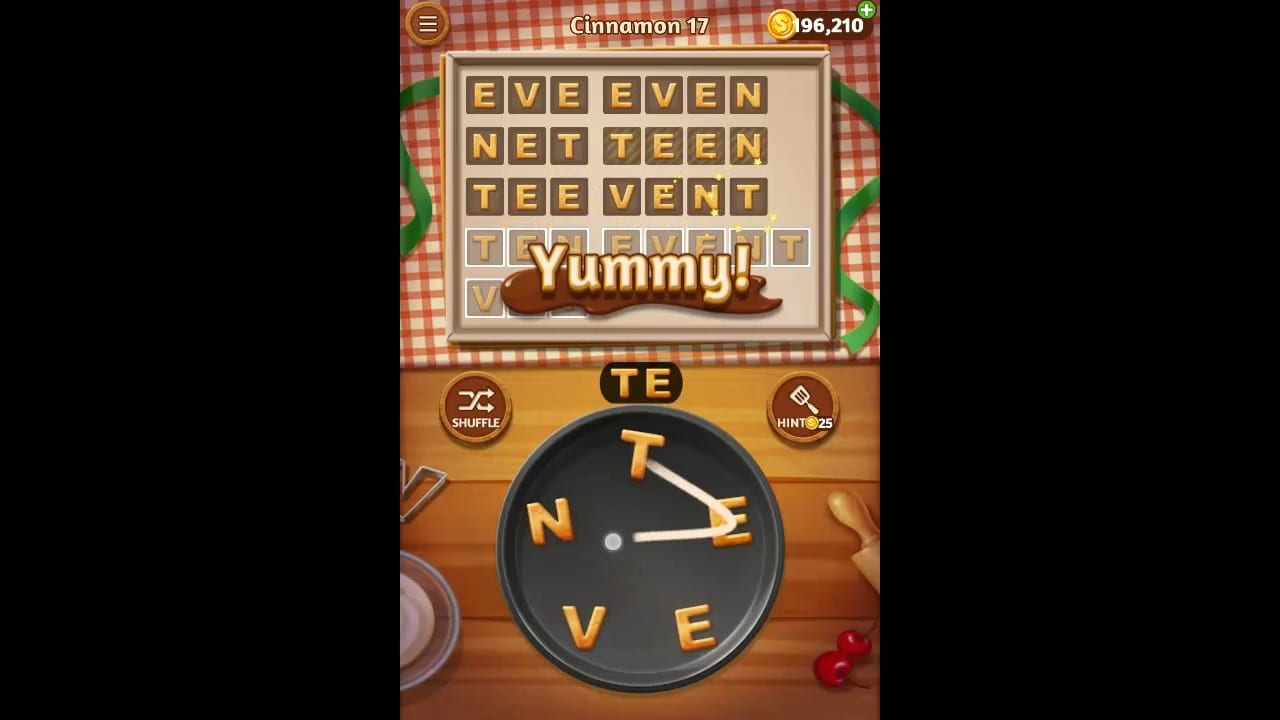 Word Cookies Cinnamon Pack Level 17 Answers