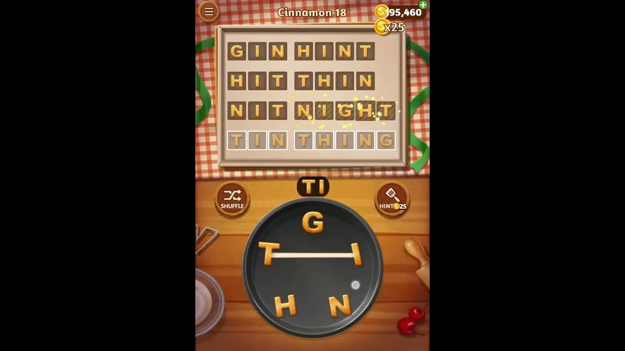 Word Cookies Cinnamon Pack Level 18 Answers