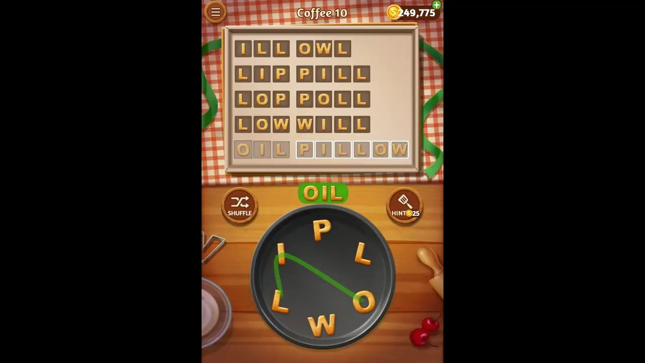 Word Cookies Coffee Pack Level 10 Answers