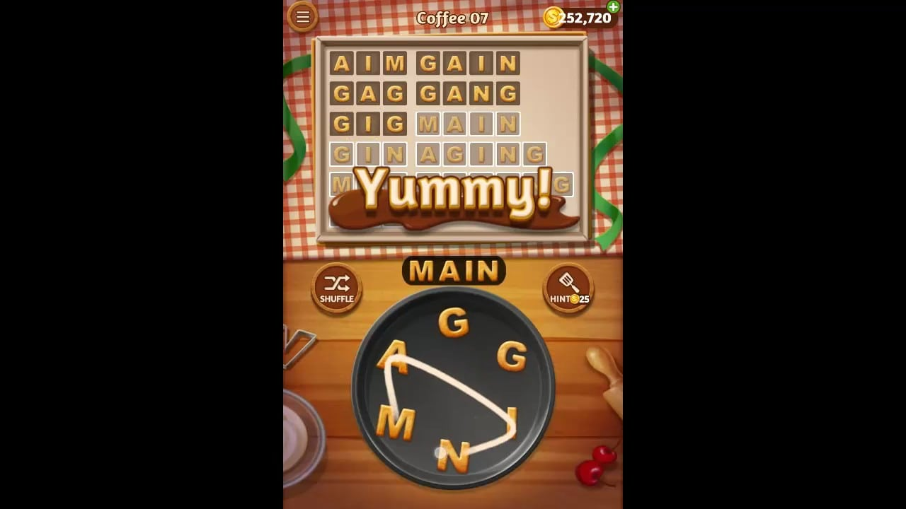 Word Cookies Coffee Pack Level 7 Answers