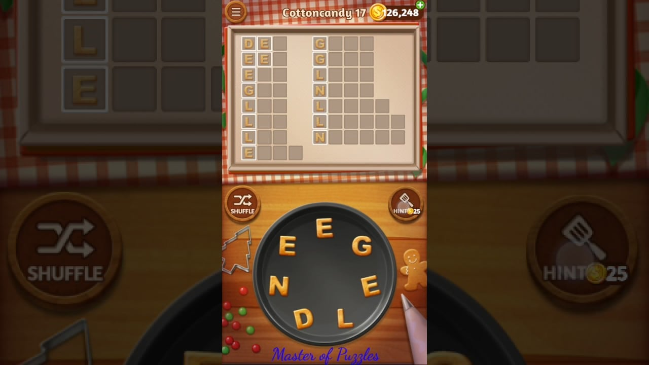 Word Cookies Cottoncandy Level 17 Celebrity Chef Solved