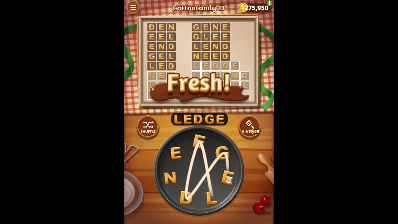 Word Cookies Cottoncandy Pack Level 17 Answers