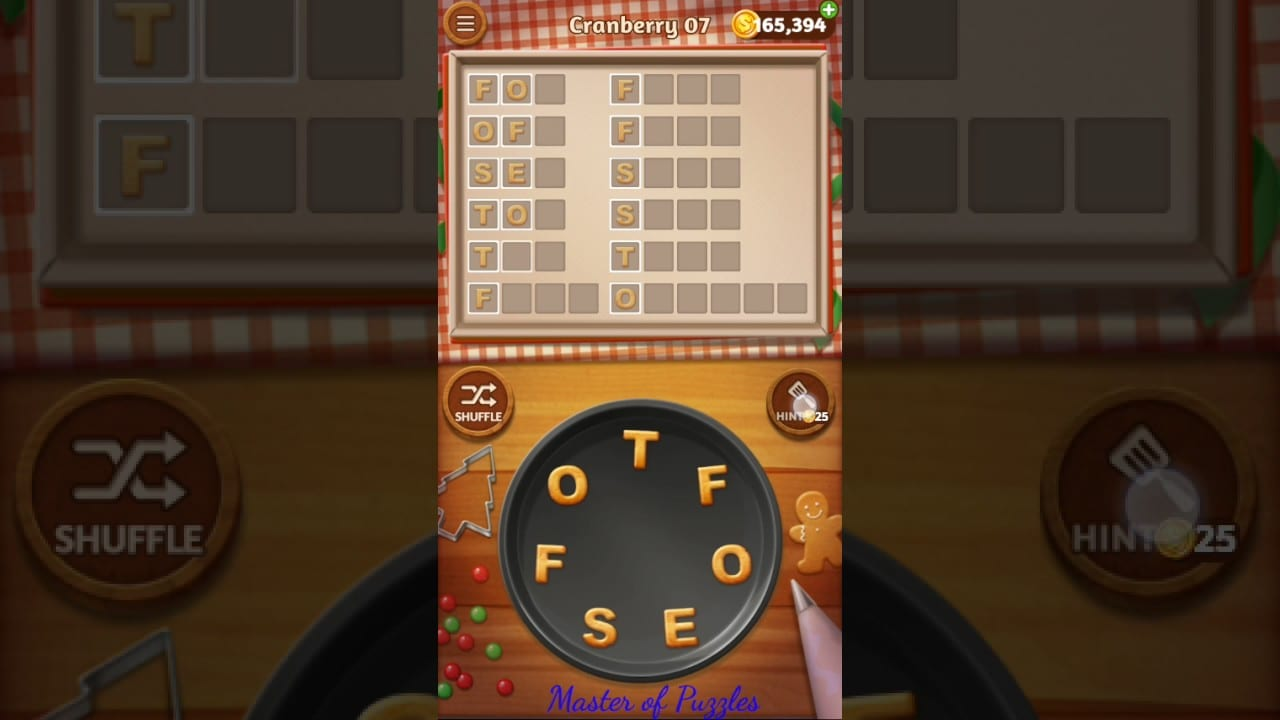 Word Cookies Cranberry Level 7 Celebrity Chef Solved