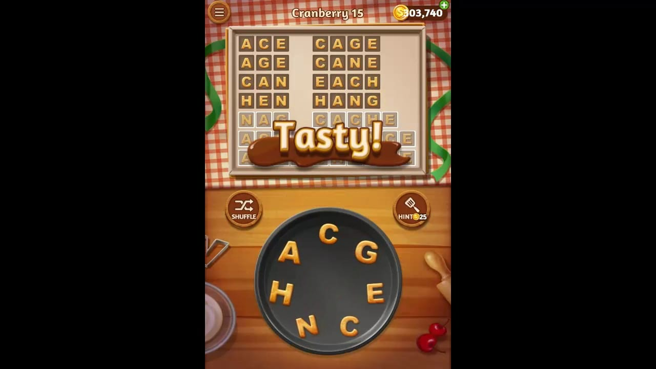 Word Cookies Cranberry Pack Level 15 Answers