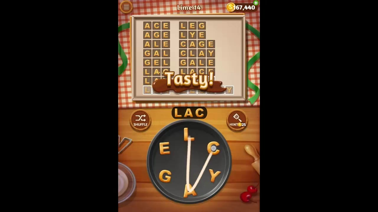 Word Cookies Lime Pack Level 14 Answers