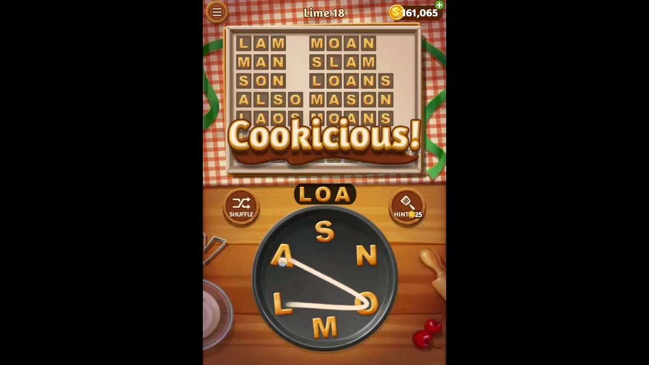 Word Cookies Lime Pack Level 18 Answers