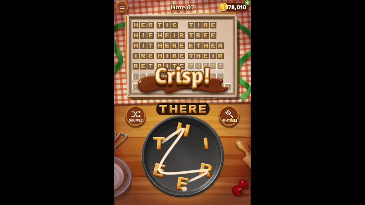 Word Cookies Lime Pack Level 7 Answers