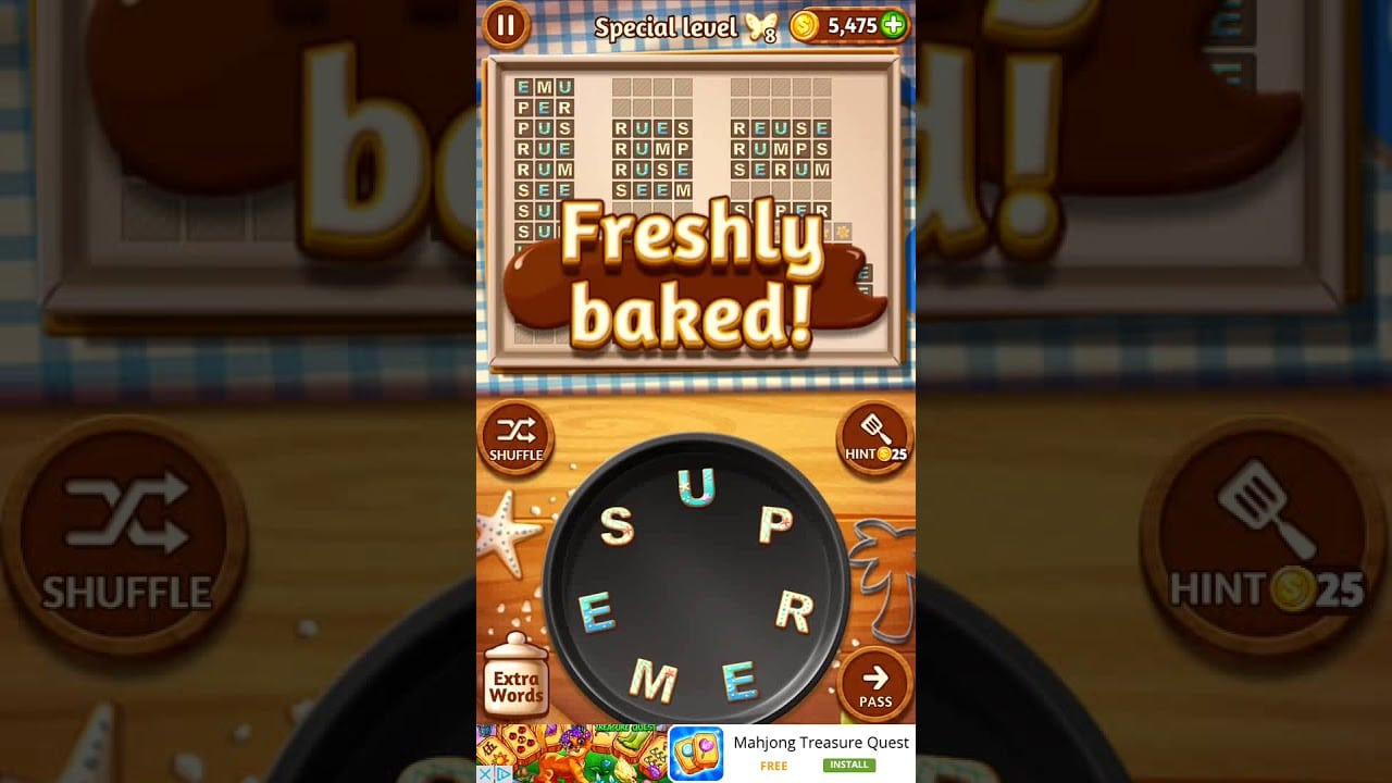 Word Cookies Macadamia 5 Special