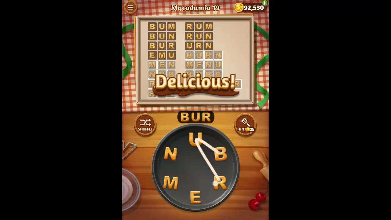 Word Cookies Macadamia Pack Level 19 Answers