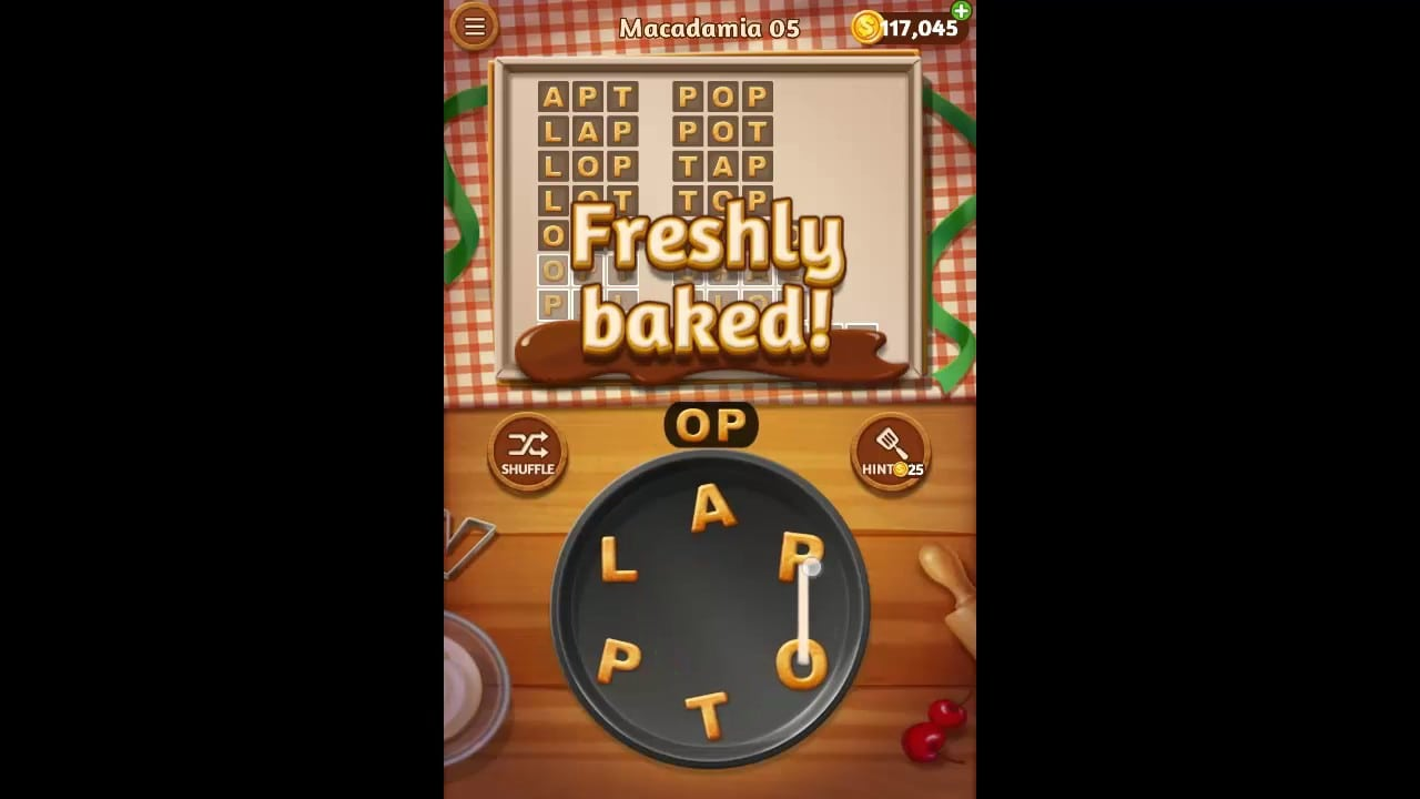 Word Cookies Macadamia Pack Level 5 Answers