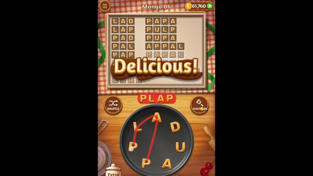 Word Cookies Mango Pack Level 6 Answers