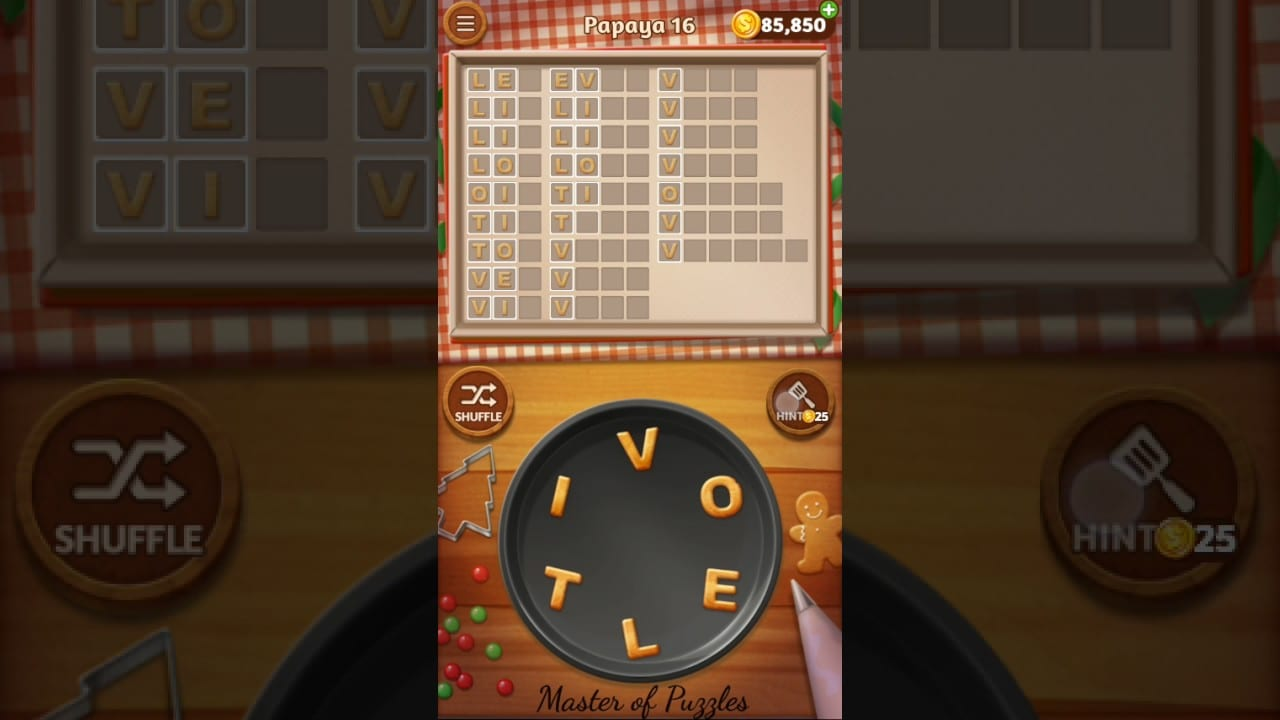 Word Cookies Papaya Level 16 Star Chef Solved